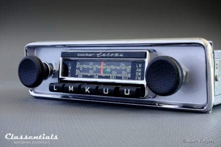 Becker EUROPA LMKU 1968 - 1972 Vintage Original High-End Classic Car Auto Radio for VW Volkswagen Beetle with Metal Dashboard Classentials Motoring Essentials classic car oldtimer autoradio accessory accessories