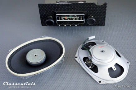 Becker EUROPA LMKU 1970 Vintage Original High-End Classic Car Auto Radio for 1970- 1972 VW Porsche 914-6 + Complete Original Mounting Kit and Speakers Classentials Motoring Essentials classic car oldtimer autoradio accessory accessories MP3 Bluetooth music streaming