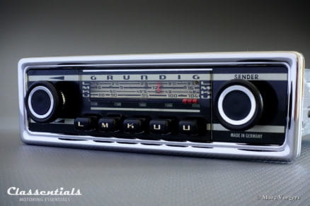 Grundig WK 4501, 1972-1974 Vintage high-End Classic Car Auto Radio for All European Cars of the 1970s Classentials Motoring Essentials classic car oldtimer autoradio accessory accessories