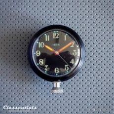 Vintage Original 1960s Black SMITHS Magnetic Dashboard Clock For Austin Healey, Jaguar, MG, Triumph and Other British Sports and Rally Cars! Classentials Motoring Essentials classic car oldtimer accessory accessories