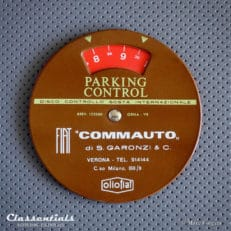1960s Car Parking-Disc for FIAT 500, 124, DINO Issued by Fiat Commauto Garonzi, Verona Italy disco orario Classentials Motoring Essentials classic car oldtimer accessory accessories