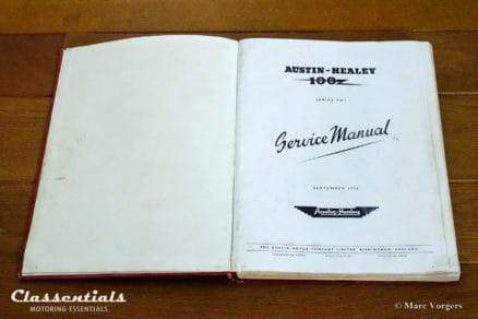 RARE Vintage Original 1956 Austin Healey 100 Series BN1 Workshop Service Manual - 97H997D - With BN2 Supplement