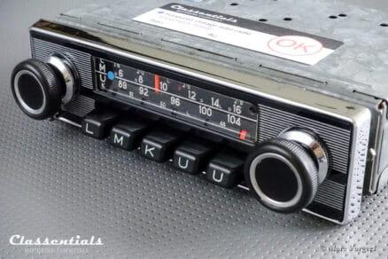 Blaupunkt Frankfurt 1972 Vintage Original High-End Auto Radio for Alfa Romeo, Aston Martin, Lancia, Jaguar, Peugeot, Triumph & Others 1968 - 1972
