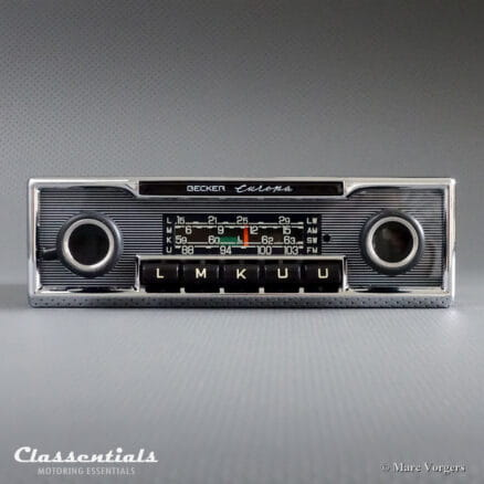Becker EUROPA LMKU 1972 Vintage Original High-End Classic Car Auto Radio, Mercedes-Benz and Other Exclusive Cars 1968 -1978 - Including Deluxe Bluetooth Module!