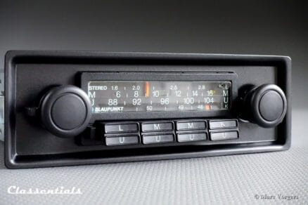 Blaupunkt Köln STEREO 1975 VERY RARE TOP-END Vintage Original Classic Car Auto Radio for Porsche 911 / 930 G-Series Models 1975 - 1978, Including Deluxe Stereo Bluetooth Module