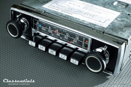 Blaupunkt Frankfurt STEREO 1971 ULTRA RARE Vintage Original TOP-END Auto Radio for Aston Martin DB6 1965 - 1971 Including Classentials Deluxe Stereo Bluetooth Module