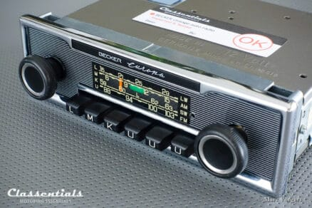 Becker EUROPA 1979 Vintage Original High-End Classic Car Auto Radio, Mercedes-Benz and Other Exclusive Cars 1968 – 1978