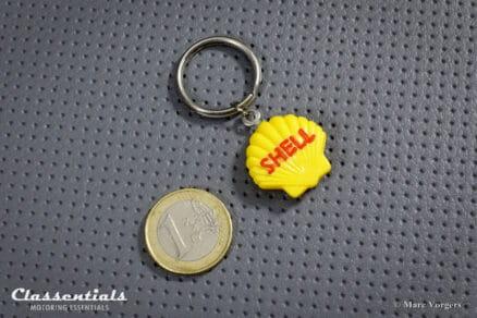 Vintage Original 1960s SHELL Keyring / Fob - New Old Stock schlusselanhanger porte cle cles chiavi sleutelhanger
