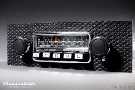Blaupunkt Frankfurt STEREO RALLYE 20W 1972 Vintage Original TOP-END Classic Car Auto Radio for Porsche 911 / 912 F-Series Models - Including Classentials DeLuxe Bluetooth Module autoradio