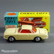 1960s Corgi Toys Volkswagen 1500 Karmann Ghia #239 Rare Beige - Near MINT - collectors item