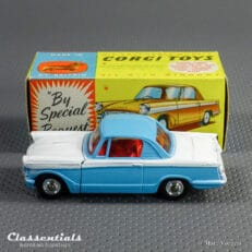 1960s Corgi Toys Triumph Herald Coupe 231 Blue over White Excellent to Near MINT collectors item