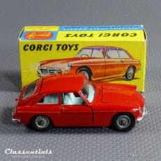 1960s Corgi Toys MGB GT with suitcase #327 - Very Near MINT - collectors item