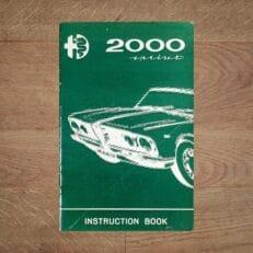 Vintage Original Alfa Romeo 2000 Sprint Instruction Book user manual 5/1962 - English Language
