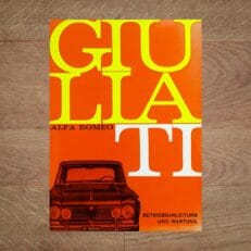 Vintage Original Alfa Romeo Giulia TI User Manual, 10/1966 - German Language
