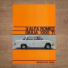 Vintage Original Alfa Romeo Giulia 1300 TI User Manual, 9/1967 - English Language